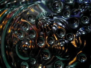 Black Abstract Bubble Background