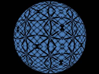 Black and Blue Sphere