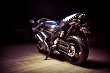 Black and Blue Sports Bike