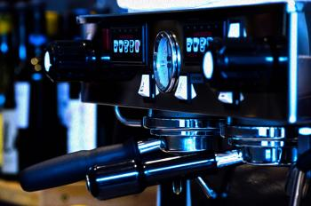 Black and Gray Coffee Machine in Close-up Photography