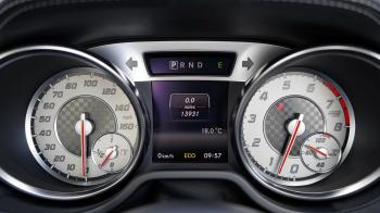 Black and Gray Speedometer at 0