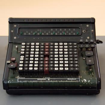 Black and Gray Vintage Cash Register