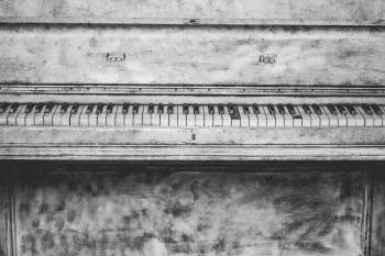 Black and Grey Upright Piano Sketch