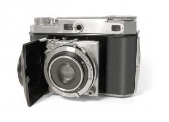 Black and Silver Mirrorless Camera