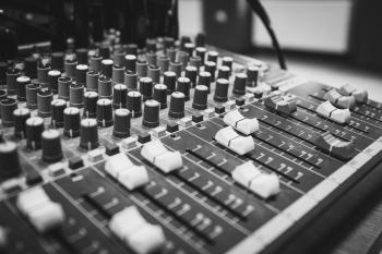 Black and White Audio Equalizer