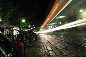 Black Bicycle Beside Pathway