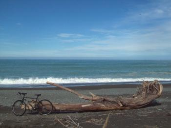 Black Bike in South Canterbury