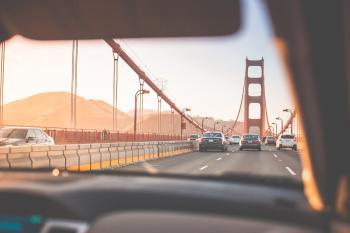 Black Cars on Golden Gate Bridge at Daytime