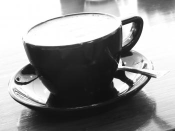 Black Coffee Cup b&w image
