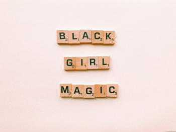 Black Girl Magic Text Decor