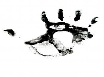 Black ink hand