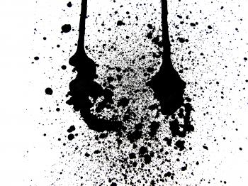 Black ink splatter