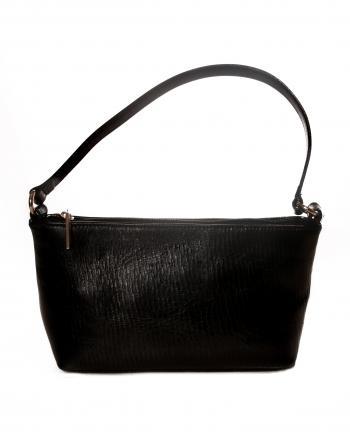 Black leather women's purse