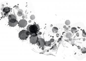 Black Paint Splats
