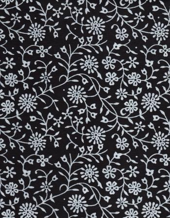 Black Paper White Flowers