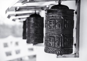 Black Steel Bells in Shallow Photography