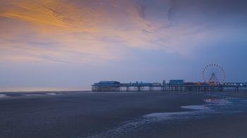 Blackpool Central Pier Sunset