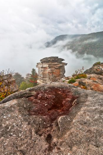 Blackwater Mountain Fog - Lindy Point HDR