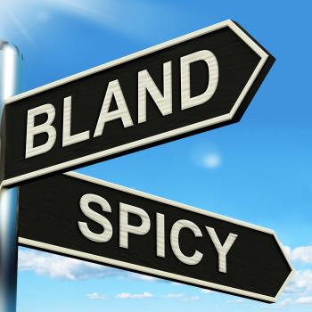 Bland Spicy Signpost Means Tasteless Or Hot