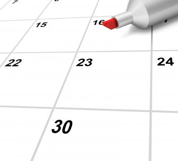Blank Calendar Shows Plan Appointment Schedule Or Event