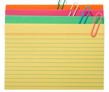 Blank Index Cards For Notes