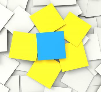 Blank Post it Messages Shows Copyspace To Do And Note
