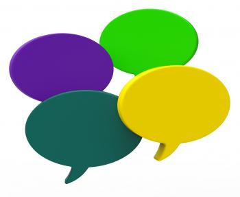 Blank Speech Balloon Shows Copyspace For Thought Chat Or Idea