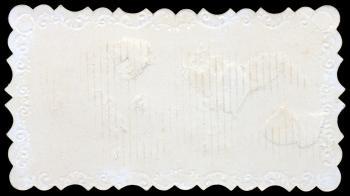Blank Vintage Die Cut Paper