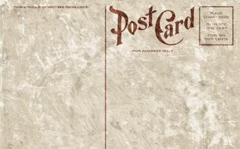 Blank Vintage Postcard - Grunge Edition