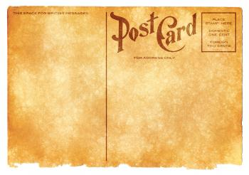 Blank Vintage Postcard - Sepia Grunge