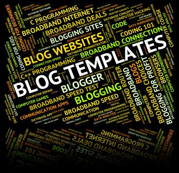 Blog Templates Represents Text Plans And Words