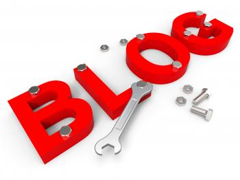 Blog Tools Indicates World Wide Web And Blogger