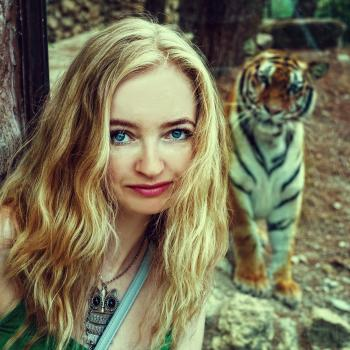 Blonde with Tiger