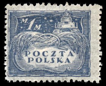 Blue Agricultural Stamp