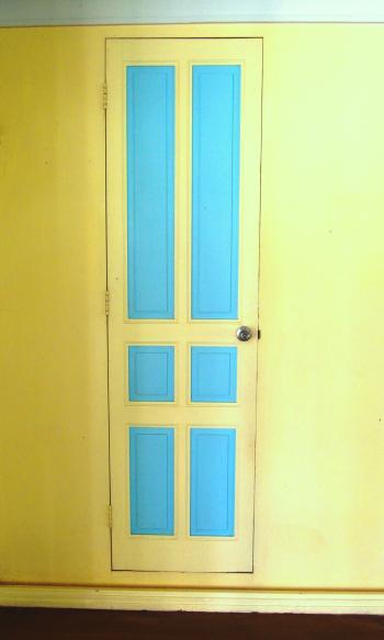Blue and Yellow Door