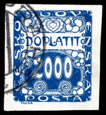 Blue Art Nouveau Stamp