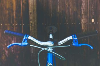 Blue Black and Silver Bicycle
