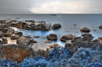 Blue Boulders Beach - HDR