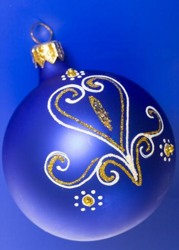 blue christmas ball