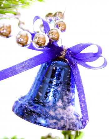 Blue Christmas Bell