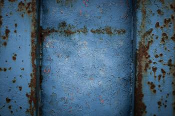 Blue Corroded Metal Texture