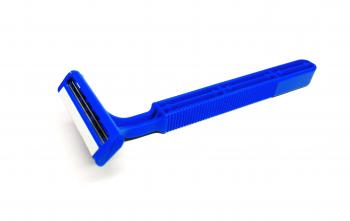 Blue disposable razor