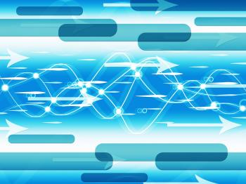 Blue Double Helix Background Means Information Highway
