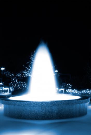 Blue Glowing Fountain