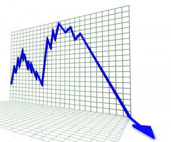 Blue Graph Shows Sales Or Profit