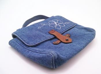 Blue hand bag