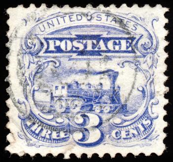 Blue Locomotive Stamp