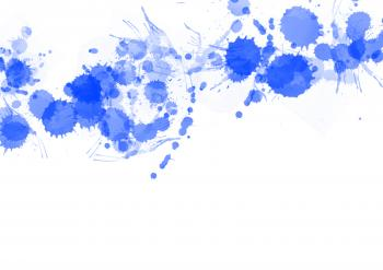 Blue Paint Splats