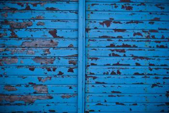 Blue Peeled Paint Background