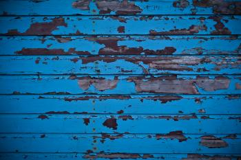 Blue Peeled Paint Garage Door Texture